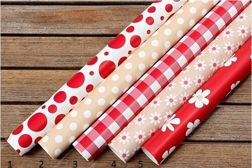 Balící papíry Red and Beige Styl 1