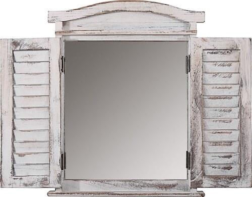 Zrcadlo Shabby White