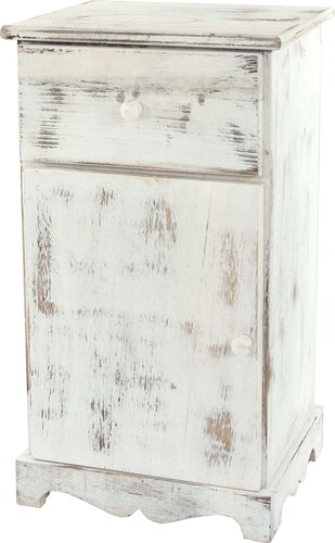 Noční stolek Shabby, bílý