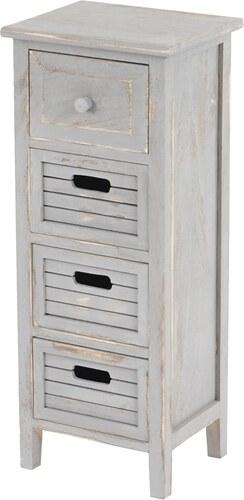 Komoda/noční stolek se 4 zásuvkami Cenon, šedý