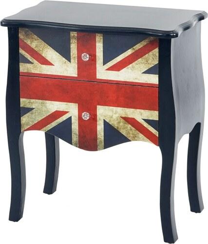 Komoda, stolek Union Jack