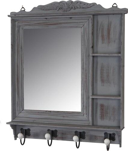 Věšák se zrcadlem Milton, šedý
