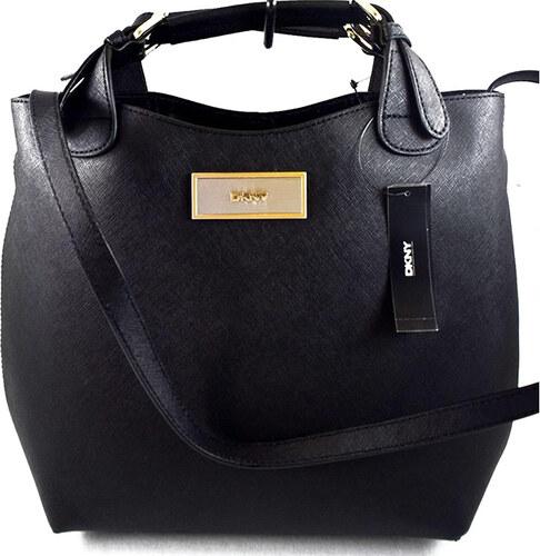 DKNY Donna Karan Kožená DKNY kabelka černá celebrity shopper - Glami.cz a43c64eb44d