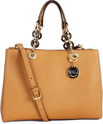 Michael Kors kabelka Cynthia medium saffiano leather satchel peanut ... 71f31e82204