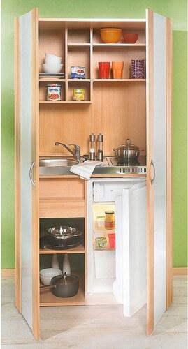 Schrankküche, mit Duo-Glaskeramikkochfeld