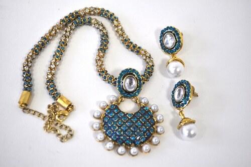 Tyrkysový náhrdelník - set NAVJGST