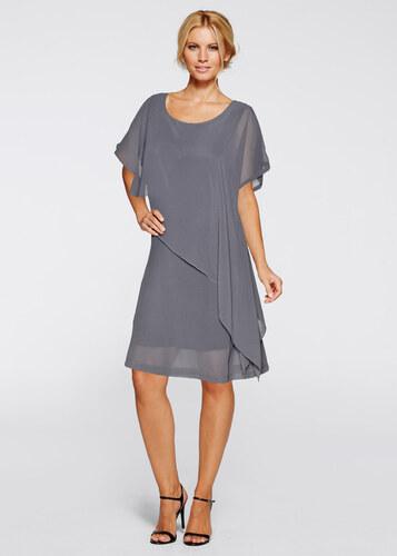 BODYFLIRT boutique Robe tissée gris femme - bonprix - Glami.fr 63b15adc3973