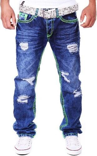 TONY COOP kalhoty pánské 156-1 jeans s dírami 6248f03cd5