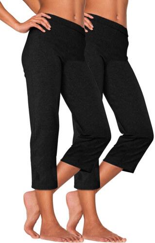 Capri kalhoty (2ks) 2x černá
