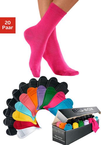 Dámské ponožky, Big Box (20 párů) sada sytých barev
