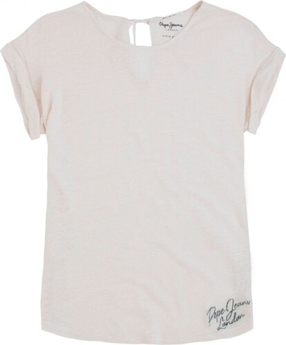 Dámské tričko Pepe Jeans Mirage nude M - Glami.cz 4095e7c5fd
