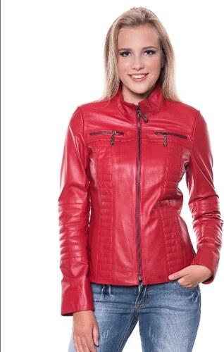 Giorgio Di Mare Dámská kožená bunda GI2599652 RED - Glami.cz 648161224ca
