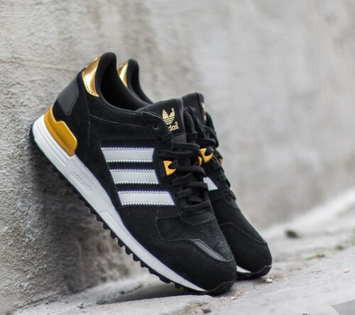 adidas Originals adidas ZX 700 W Core Black  Ftw White  Gold MT US 7 ... 53a7aa0e7c