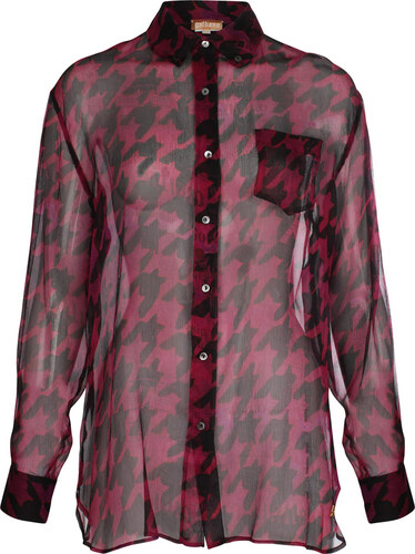 Galliano Dámská hedvábná košile YR6623 72005 beere - Glami.cz 83bf2c027a