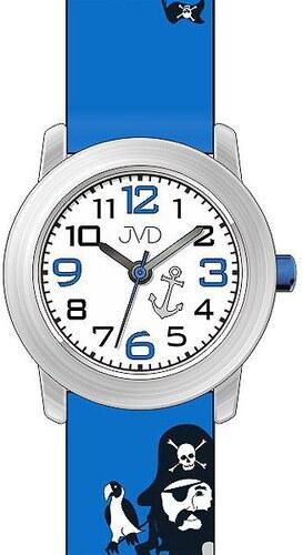 6fd60d984c0 Dětské náramkové chlapecké hodinky JVD J7146.2 s jednookým pirátem ...