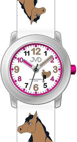 679390a001a Dětské dívčí hodinky JVD J7150.1 s motivem koně a podkovami pro štěstí