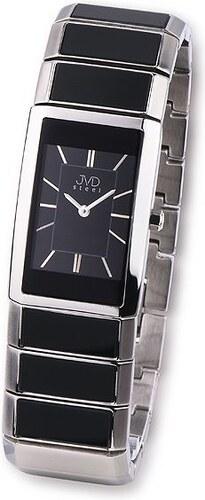 Luxusní dámské keramické náramkové hodinky JVD steel W22.2 (černá keramika) 622b4864e9