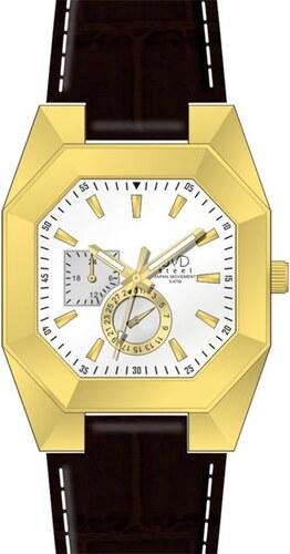 Designové hranaté ocelové zlaté náramkové hodinky JVD steel J1052.2 - 5ATM 472491af30