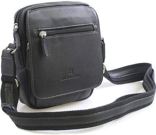 Luxusní černá kožená taška přes rameno Hexagona Xman černá - Glami.cz db7e1a09e29