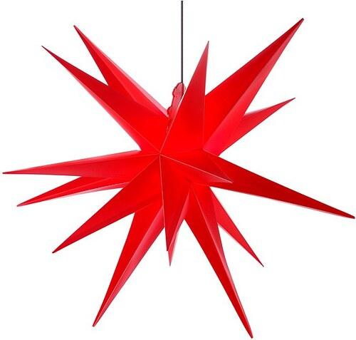 Kunststoff-Stern in 3 Farben