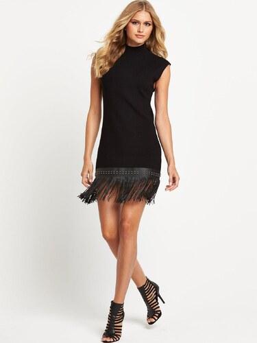 CLOSET Černé mini šaty s třásněmi - Glami.cz 1d3f8b1246