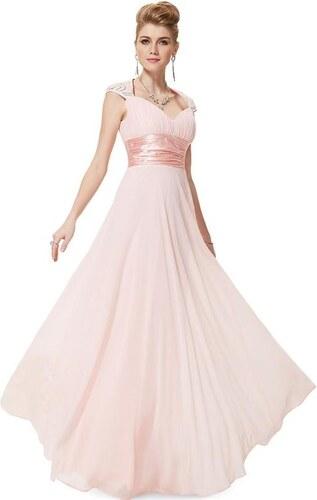 Ever Pretty plesové šaty s flitry jemně růžové 9672 - Glami.cz 13ede2872c