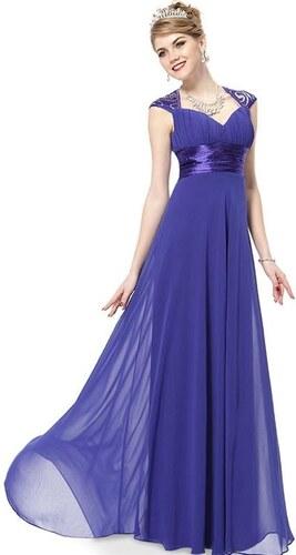 e2cdada1b37 Ever Pretty plesové šaty s flitry modré 9672 - Glami.cz