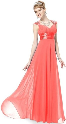 8afcf316560 Ever Pretty plesové šaty s flitry lososová 9672 - Glami.cz