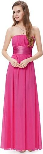 Ever Pretty Jemné plesové šaty s mašlí magenta 9060 HP - Glami.cz 6c09abb3fd