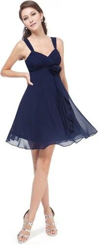 892c9051492f Ever Pretty šifonové šaty krátké tmavě modré 3266 - Glami.cz