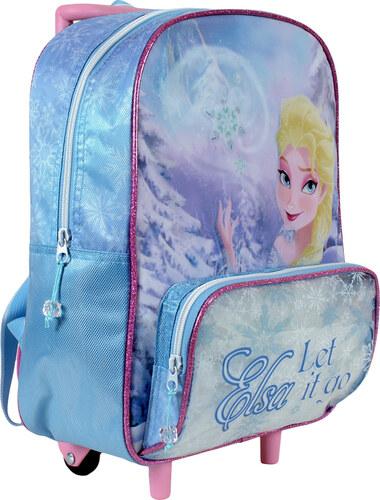 e24f21e1fb8 Disney Brand Dívčí batůžek na kolečkách Frozen - světle modrý - Glami.cz