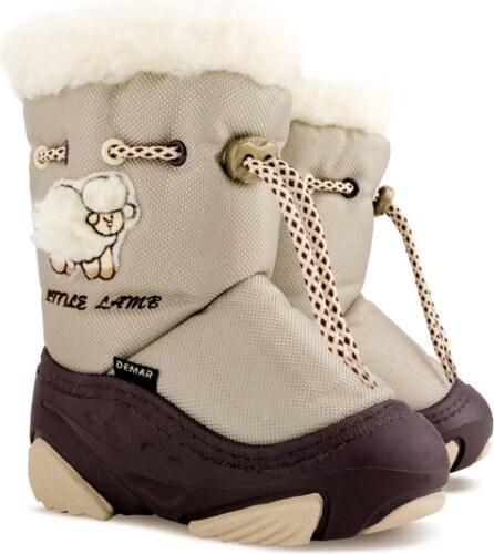 Demar Detské snehule Little Lamb A - béžové - Glami.sk b91d703e84