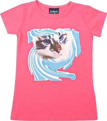 98e414bd02d Escallante Dívčí tričko s kočičkou - růžové - Glami.cz