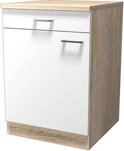Küchenunterschrank »Rio«, Breite 60 cm, inkl. 2. Frontensatz in weiß gratis dazu