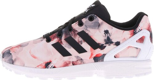 Růžové dámské květované tenisky se vzorem adidas Originals Flux K ... 6a2c36888d7