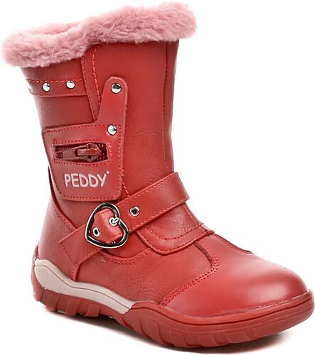 Dětská obuv Peddy PT-633-35-08 červené dívčí kozačky - Glami.cz 42ee864566