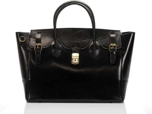 Čierna kožená kabelka Lisa Minardi Pomona - Glami.sk 417e3486643