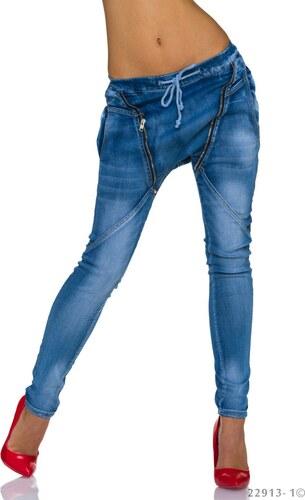 768a198ae87 Extravagantní džíny Blue Rags - modré - Glami.cz