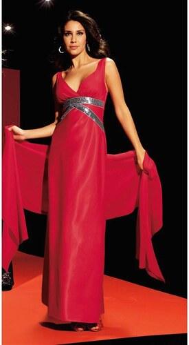 Laura Scott Evening Dlouhé společenské šaty červené - Glami.cz 856ae28485