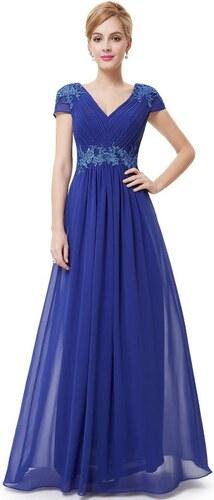 Ever Pretty plesové šaty s výšivkou safírové 8467 - Glami.cz 66310861d8