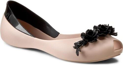 8412c217701f Baleríny MELISSA - AH+Melissa Flower Queen Ad 31662 Beige Black 51485