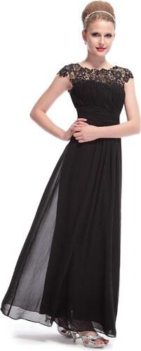 2b826b889d0 Ever Pretty plesové šaty s krajkou černé 9993 XS - Glami.cz