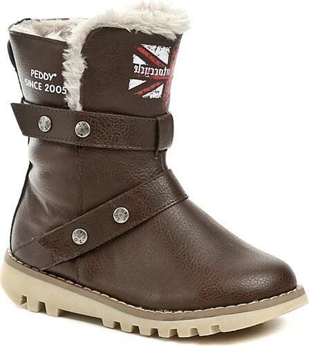 Peddy PT-533-34-25 hnědé dětské zimní boty - Glami.cz 2c7bd34995