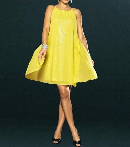 Apart Pajetkové společenské šaty APART Impressions ve žluté barvě ... a57371cd01