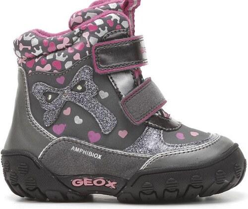 Geox Dívčí zimní svítící boty - šedé - Glami.cz c75f82d1c8