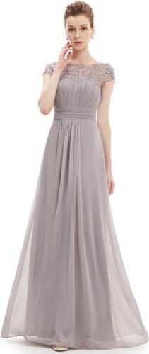 69e5661a189 Ever Pretty plesové šaty s krajkou šedé 9993 - Glami.cz