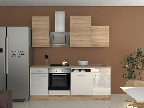 Küchenzeile mit E-Geräten »Florenz«, Breite 220 cm