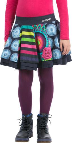 Dívčí sukně Desigual Calders modrá 3 4 - Glami.cz dbe0c7b08d8