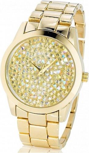 bpc bonprix collection Kovové hodinky s ozdobnými kamínky na ciferníku  bonprix 63fcbed277