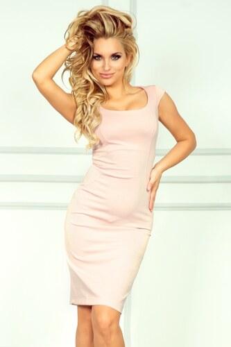 numoco Dámské společenské šaty s krátkým rukávkem světle růžové ... 9b81ef47c2